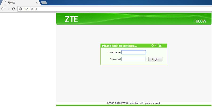 Hướng dẫn cấu hình modem cáp quang GPON ZTE F600W của VNPT