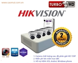 Bộ 4 camera HD720P HIKVISION DS-2CE56C0T-IRP